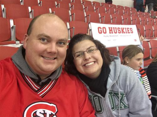 I'm a Sioux fan, but my husband supports SCSU!