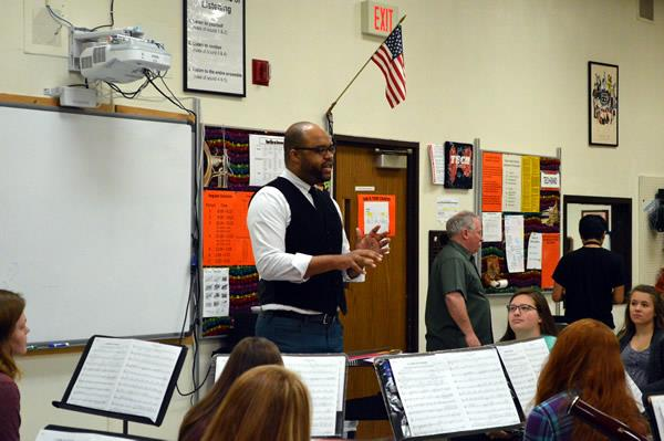 Composer Visits Tech High School